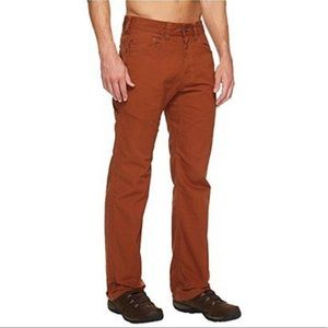 Men's Prana Bronson's Pant Size 32 Color: Henna